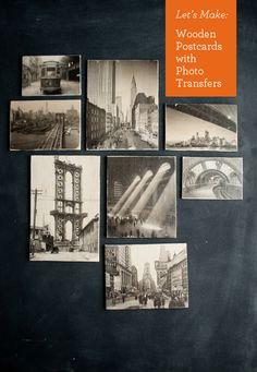 Fotoğraf Transferler ile #DIY Ahşap Kartpostallar | Tasarım Anne