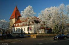 HANNOVER Kirchrode - Jakobi Kirche im Raureif hanover germany