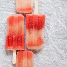 Watermelon Mint Tequila Popsicles /