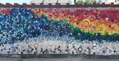 Plastic Bottle Top Beach Art. Inspiration only.