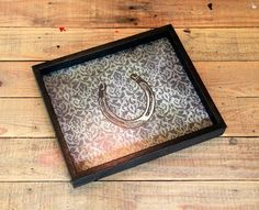 Decorative Ottoman Tray Serving Tray Ottoman Tray Coffee Table Decor Wood Brown Floral