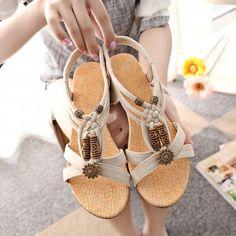 Holzperlen Gladiator Schuhe