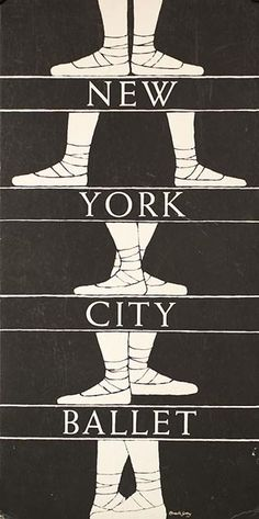 Edward Gorey 1960s poster for New York City Ballet My ballet teacher had this above the stairs at the studio