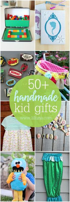50+ Handmade Gift ideas for Kids - so many great ideas to DIY this year for the littles that are unique and inexpensive!