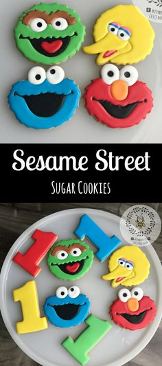 Elmo and Friends Cookies with Numbers Birthday Party Favor Idea #affiliate
