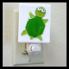 Glassworks Northwest - Turtle Night Light - Fused Glass Art. $27.00, via Etsy.