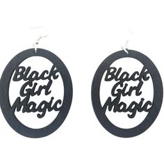 Black Girl Magic Earrings - Oval  Shop our entire collection of natural hair earrings and Afrocentric jewelry at http://www.EthnicEarring.com
