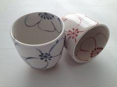 SALE Handmade Japanese Ceramic Cups // Tea Cups // Japanese Pottery