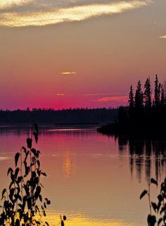 Astotin Lake at Sunset, Elk Island National Park, Canada
