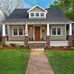 Historic Home Renovation - craftsman - Exterior - Birmingham - Banta Builders LLC Craftsman Exterior, Craftsman Bungalows, Craftsman Style, Craftsman Remodel, Craftsman Homes, Exterior House Colors, Exterior Design, Exterior Paint, Bungalow Homes