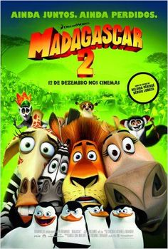 Madagascar:Escape 2 Africa (Madagascar Ben Stiller, Chris Rock, David Schwimmer, Jada Pinkett Smith. Directed by Eric Darnell, Tom McGrath. Madagascar Film, Madagascar Escape 2 Africa, Jada Pinkett Smith, Jose Garcia, Cedric The Entertainer, Animated Movie Posters, David Schwimmer, Ben Stiller, Film D'animation