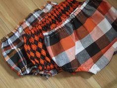 Halloween Baby Boy Diaper Cover Black and Orange Argyle by Seams2u, $16.00