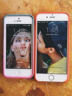 fondo de pantalla de novios que aparecen en un celular