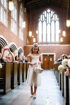 196b42b12fa Flower girl in white dress. Glamorous and classy Nashville Wedding.  Nashville Wedding