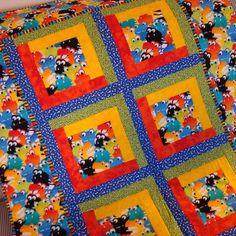 Monsters in My Closet Handmade Baby Quilt, Kids Quilt