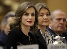 Queen Letizia attends a international symposium on sustainable food systems for healthy diets and improved nutrition at the FAO (United Nations Food and Agriculture Organization) headquarters on December 2, 2016 in Rome, Italy.