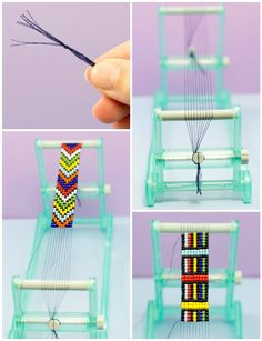DIY Bead Loom Bracelet via Hopeful Honey