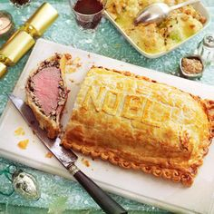 Making this in the traditional way (as we have) gives a more attractive finish, but the base pastry often doesn't fully crisp. If you prefer, pre-cook a rectangle of puff pastry just larger than the wrapped beef (squashing it down a bit during cookin Best Pastry Recipe, Pastry Recipes, Meat Recipes, Cooking Recipes, Uk Recipes, Dinner Recipes, British Baking Show Recipes, British Bake Off Recipes, Great British Bake Off
