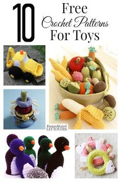 Crochet toys make great gifts for kids. If you are looking to make some crochet toys, here are 10 free crochet patterns for toys to inspire you.