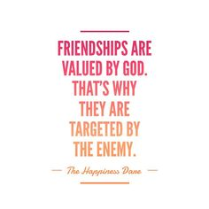 Sometimes we have to fight for our relationships. Because they are valued by God, they are targeted by the enemy.