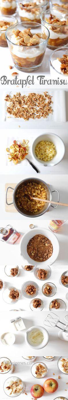 Bratapfel Tiramisu | Köstliches Dessert -> Herbst & Winter | baked apple tiramisu | Rezept & Anleitung waseigenes.com | desserts recipe