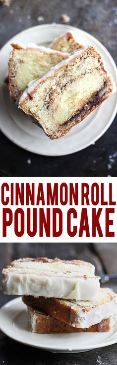Cinnamon Roll Pound Cake by Creme de la Crumb Just Desserts, Delicious Desserts, Dessert Recipes, Yummy Food, Pound Cake Recipes, Pound Cakes, Oreo Dessert, How Sweet Eats, Sweet Bread