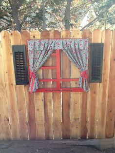 Window and shutters fence art