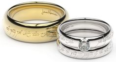 Elvish Engagement Rings This is likely where we will get our wedding bands.