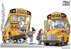 What's at stake if National's plans for education are allowed to go unchallenged - a succinct summary Trump Cartoons, Political Cartoons, Failing School, Black Republicans, Progressive Liberal, Conservative Values, Social Challenges, School Choice, Frederick Douglass
