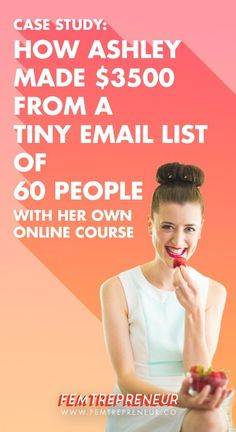 You don't have to have a big list to make money with your online course! Learn how Ashley made thousands from her tiny list of 60 people. You can do it too!