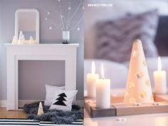 Weihnachtsdeko: Adventskranz aus Holz und Beton gefunden bei der Deko-Expertin: www.nicestthings.com