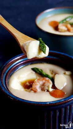 A spoonful of Chinese steamed eggs. It melts in your mouth.