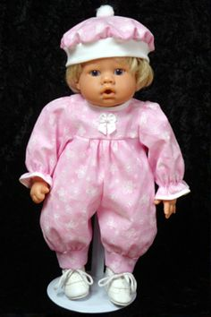 """Pink ButterFly Garden Jumper fits 12"""" - 14"""" dolls such as the Lee Middleton® Newborn Wonder Doll - concerned this might be too big."""
