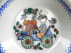 Rare Figgjo Flint Norway Children Bowl on Etsy by by EdibleComplex, $30.00