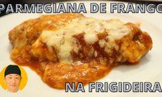 Parmegiana de frango na frigideira Meat, Chicken, Youtube, Food, Chicken Pepper Fry, Delicious Recipes, Meals, Yemek, Eten