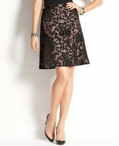 Graceful Leaves Jacquard Flounce Skirt