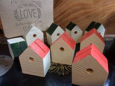 A personal favourite from my Etsy shop https://www.etsy.com/uk/listing/544677308/wedding-place-card-holders-bird-box