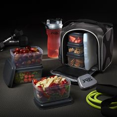 Jaxx FitPak with Portion Container Set and Shaker Cup. Eat healthy all day with portion control containers for hearty meals, healthy snacks, and shakes.