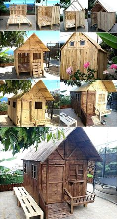 DIY Recycled Wood Pallets Kids Toys And Playhouse