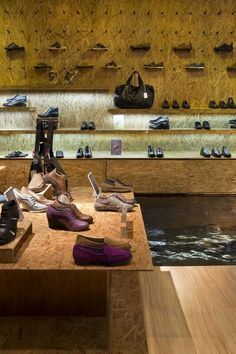 Hush Puppies stores in Eco design concept at Lippo Mall Kemang, Jakarta. A Creative Retail Design by ACRD Indonesia - www.acrd.com.au