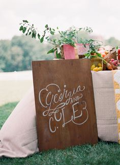 we adore this hand-lettered sign based on Lindsay's letters! | Eric Kelley