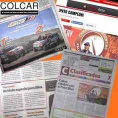 Colcar Racing Team | acción de prensa para el equipo campeón del Rally Cross Country, Villa Regina, Rio Negro, Octubre 2014. Clarin Deportes (papel) + Clarin Suple DeAutos (papel) + Tapa Clarin Clasificados (papel) + VisionAutos.com.ar (web).