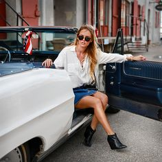 Kristin Sundberg in Stax sunglasses Round Sunglasses 74af7be80e