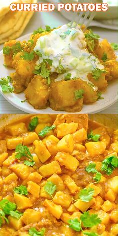 Creamy Potato Curry - This is a simple, tasty, and foolproof Potato Curry recipe. Made with coconut milk, this dish is fi - Indian Food Recipes, Vegan Recipes, Cooking Recipes, Healthy Dinner Recipes, Simple Vegetarian Recipes, African Recipes, Cream Recipes, Potato Recipes, Dinner Dishes