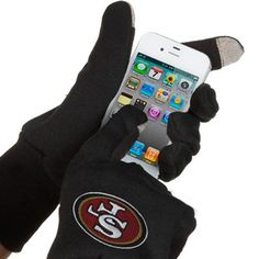 McArthur San Francisco 49ers Touch Gloves - Black