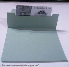 Tutoriel - carte à pochette centrale pour carte cadeau par Dolphine - Boutique Art du Scrapbooking