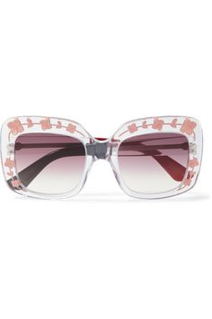 47a78dbd35f0a2 Multicolored acetate 100% UV protection Come in a designer-embossed brown…  Gucci Cat