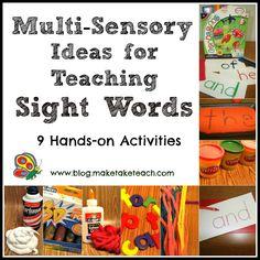 Multi-Sensory Ideas for Teaching Sight Words