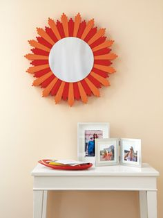 We loved @Urbane Jane's DIY mirror so much, we recreated it in the September issue of Woman's Day! Click for the easy instructions to make it for your home. #DIY #craft #home