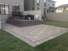 This interlock patio built by NewFound - Land, Fence & Decks. It's a nice addition to the composite deck in Kanata, Ottawa